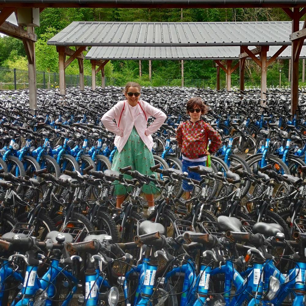 vélos à center parcs